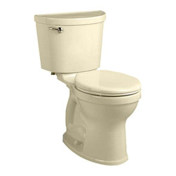 "American Standard - American Standard 211B.A104.021 Champion PRO Right Height Round Toilet, Bone - American Standard 211B.A104.021 Champion PRO Right Height Round Front Toilet, Bone. This vitreous china constructed round-front toilet meets EPA WaterSense criteria, a trade-exclusive tank, a PowerWash rim that scrubs the bowl with each flush, a robust metal left-sided trip lever/metal shank fill valve assembly, an EverClean surface, a 4"" piston-action Accelerator flush valve, a 12"" Rough-in, a chrome finish trip lever, and a fully-glazed 2-3/8"" trapway"