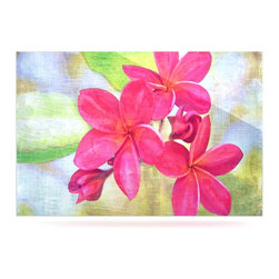 """Kess InHouse - Sylvia Cook """"Plumeria"""" Flower Petals Metal Luxe Panel (16"""" x 20"""") - Our luxe KESS InHouse art panels are the perfect addition to your super fab living room, dining room, bedroom or bathroom. Heck, we have customers that have them in their sunrooms. These items are the art equivalent to flat screens. They offer a bright splash of color in a sleek and elegant way. They are available in square and rectangle sizes. Comes with a shadow mount for an even sleeker finish. By infusing the dyes of the artwork directly onto specially coated metal panels, the artwork is extremely durable and will showcase the exceptional detail. Use them together to make large art installations or showcase them individually. Our KESS InHouse Art Panels will jump off your walls. We can't wait to see what our interior design savvy clients will come up with next."""
