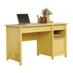 Sauder - Sauder Original Cottage Desk in Melon Yellow Finish - Sauder - Home Office Desks - 414693