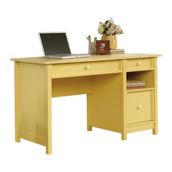 Sauder - Sauder Original Cottage Desk in Melon Yellow Finish - Sauder - Home Office Desks - 414693