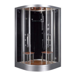 Ariel Platinum - Ariel Platinum DZ962F8 Steam Shower 47.2x47.2x89 - These fully loaded steam showers include massage jets, ceiling & handheld showerheads, chromotherapy, aromatherapy and built in radios to help maximize the therapeutic experience.