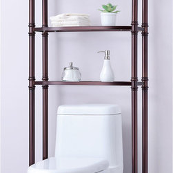 Brands - Monte Carlo Bathroom Space Saver - Over the toilet shelf system. Tempered glass shelves  and softly contoured shelf fronts add plenty of storage space for you to store and display your necessities. Easy assembly no tools required.