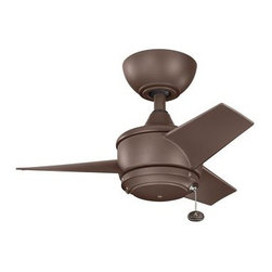 "Kichler - Kichler 310124CMO Yur 24"" Outdoor Ceiling Fan with 3 Blades - w/4"" Downrod - Included Components:"