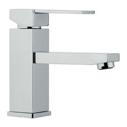 Remer - Single Lever Bathroom Sink Faucet in Chrome - This one lever basin mixer is made from a chrome finished brass in Italy by designer Remer.