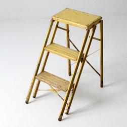 Vintage Mid Century Step Ladder - vintage metal step ladder