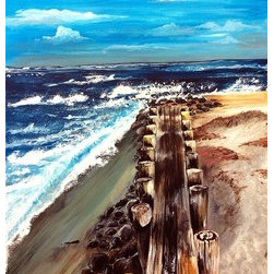"""The Shore"" (Original) By Casey  Stradcutter - Lived All My Life In The Charleston Area And The Beach Was By Far My Favorite Place To Visit."