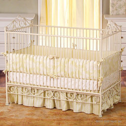 Boy Girl Twins Nursery - Casablanca Crib in Antique White by Bratt Decor