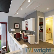 Craftsman Home Office by Wright Homes