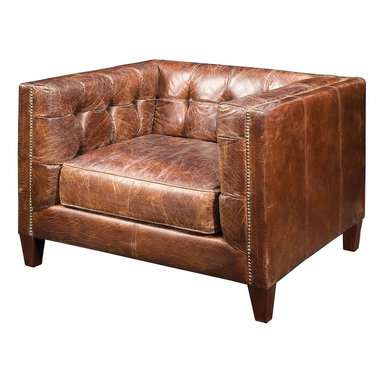 Abbott Club Chair - Timeless elegance, unsurpassed quality and classic design. Our Abbott Arm Chair is built of a hardwood frame and all down feather cushions, each piece is covered in the finest, top grain leathers, which are tanned and aniline-dyed.