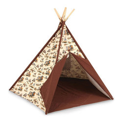 Pacific Play Tents - Cowboy Tee Pee - Dimensions: 45 in X 45 in X 56 in high