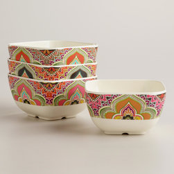 Warm-toned Paisley Dip Bowls - I am really liking the Moroccan vibe these bowls have going on.