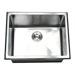 "TCS Home Supplies - Undermount/Drop-In Single Bowl Kitchen/Utility/Laundry Sink 20mm Radius Design - This newly design multi-purpose single bowl handmade sink offers the ultimate laundry sink choice. Ultra deep 12"" sink bowl absolutely perfect for any Kitchen / Utility/ Laundry used. Handcraft from 16 gauge stainless steel. Dimensions 23-1/2"" x 18-1/2"" x 12"""