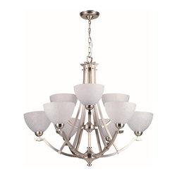 DVI LIghting - Dvi Lighting DVP9329SN-WL 9 Light Chandelier - DVI Lighting DVP9329SN-WL 9 Light Chandelier