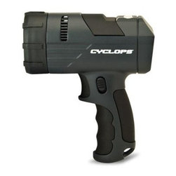 GSM - REVO 700 Rechargeable Spotlight - REVO 700 Lumen rechargeable handheld spotlight - lithium polymar battery- Hi-Power Luxeon LED - Ergonomic Grip - Detachable Red Lens - Dual Recharge with AC/DC adaptor or 12V DC car adaptor - Integrated power meter.