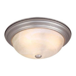 Vaxcel Lighting - Vaxcel Lighting CC25113 Saturn 2 Light Flush Mount Ceiling Fixture - Features: