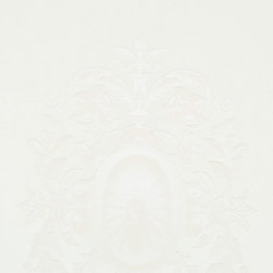 Walls Republic - Upscale White Wallpaper R1488, Double Roll - Upscale is large scale ornamental pendant wallpaper with swirling leaf motifs in a traditional style. It is an impactful choice with an elegant and sophisticated vibe. Use it in your living room as a feature wall.