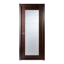 Maximum 209 Contemporary Interior Door Wenge Finish - * Price listed includes door slab,adjusted frame and moldings ** ( hardware seperate )