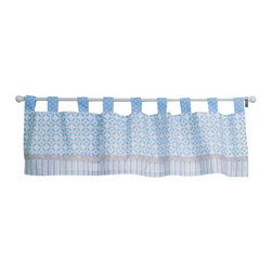 Trend Lab - Trend Lab Window Valance - Logan - 106672 - Shop for Window Treatments from Hayneedle.com! About Trend LabFormed in 2001 in Minnesota Trend Lab is a privately held company proudly owned by women. Rapid growth in the past five years has put Trend Lab products on the shelves of major retailers and the company continues to develop thoroughly tested high-quality baby and children's bedding decor and other items. Trend Lab continues to inspire and provide its customers with stylish products for little ones. From bedding to cribs and everything in between Trend Lab is the right choice for your children.