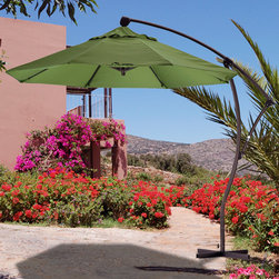 9-foot Deluxe Crank-Lift Cantilever Market Umbrella - Ahhh, shade. My favorite feature of this umbrella is that it is offset, so you don't have the annoying pole in between you and your guest trying to have a conversation.