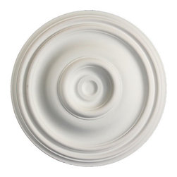 uDecor - MD-5214 Ceiling Medallion - Ceiling medallions and domes are manufactured with a dense architectural polyurethane compound (not Styrofoam) that allows it to be semi-flexible and 100% waterproof. This material is delivered pre-primed for paint. It is installed with architectural adhesive and/or finish nails. It can also be finished with caulk, spackle and your choice of paint, just like wood or MDF. A major advantage of polyurethane is that it will not expand, constrict or warp over time with changes in temperature or humidity. It's safe to install in rooms with the presence of moisture like bathrooms and kitchens. This product will not encourage the growth of mold or mildew, and it will never rot.
