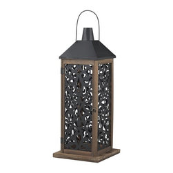 Sterling Industries - Darfield-Large Lantern With Filigree Paneling - Darfield-Large Lantern With Filigree Paneling