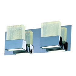 ET2 - E22752 Fizz III 2-lt LED Bath Vanity - Fizz III 2-Light LED Vanity