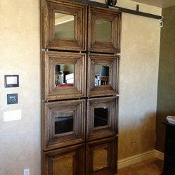 Custom Sliding Barn Doors - This custom barn door was built using eight Massiv Brand (ext dim 23 ...