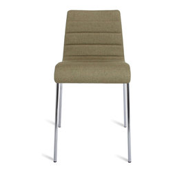 Blu Dot - Blu Dot Roy Chair, Olive - Roy is a solid workhorse for the office, home or contract application. A padded and upholstered seat keeps things on the softer side, while the steel legs provides sure footing. Stackable.