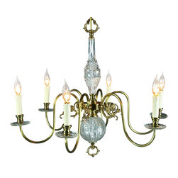 EuroLux Home - Consigned Vintage 1950 French Chandelier Rococo 6 - Product Details