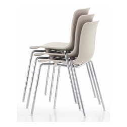 Vitra - HAL Stacking Chair by Vitra - Designed by Jasper Morrison as a modern interpretation of the classic molded plastic chair, the Vitra HAL Stacking Chair features a comfortable, casually curved plastic seat on lightweight yet strong chromed tubular steel legs. When they're not in use and you need the floor space, you can stack these chairs quickly and easily up to 6 high. Founded in Switzerland in 1950, Vitra produces intelligent and inspiring furniture and accessories for the home, office and other public spaces. Ever mindful of the importance of sustainability in design, Vitra creates furnishings with high quality and versatile style that ensures functional and aesthetic enjoyment for the long term.