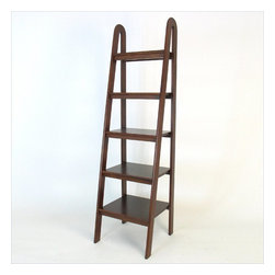 Wayborn - Wayborn Basswood 5 Tier Ladder Bookcase in Brown - Wayborn - Bookcases - 9025