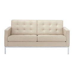 Florence Knoll Two-Seater Sofa in Volo Leather