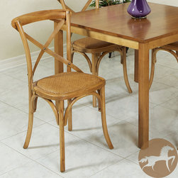 Christopher Knight Home - Christopher Knight Home Cross-Back Light Brown Birch Dining Chair - Add comfort and a stylish contemporary look to your dining room or kitchen with this birch cross-back chair. A light brown gloss finish brings out the natural color of the wood, which is sure to match your existing decor and impress your guests.