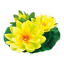 Silk Plants Direct - Silk Plants Direct Floating Water Lily (Pack of 6) - Yellow - Pack of 6. Silk Plants Direct specializes in manufacturing, design and supply of the most life-like, premium quality artificial plants, trees, flowers, arrangements, topiaries and containers for home, office and commercial use. Our Floating Water Lily includes the following:
