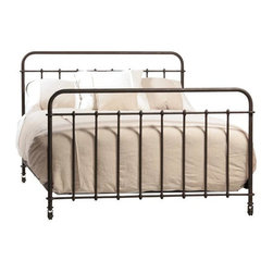 Dovetail - Dovetail Baldwin Iron Bed - Classic iron bed with an authentic vintage finish. *Requires box spring and mattress.Available Sizes: Queen - L: 84 x D: 63 x H: 54King - L: 84 x D: 79 x H: 54Cal King - L: 87 x D: 75 x H: 54