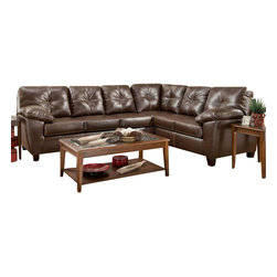 Chelsea Home Furniture - Chelsea Home Ocean 2-Piece Sectional in Thomas Mahogany - Ocean 2 Piece Sectional in Thomas Black belongs to the Chelsea Home Furniture collection .