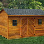 Fifthroom - Cedar Lap Siding Saltbox Sheds -