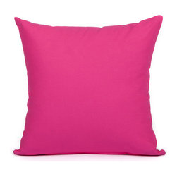"""Blooming Home Decor - Solid Hot Pink Accent / Throw Pillow Cover - (Available in 16""""x16"""", 18""""x18"""", 20""""x20"""", 24""""x24"""", 26""""x26"""", 12""""x20"""")"""