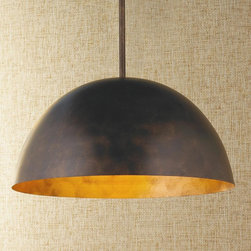 Large Dome Copper Pendant -