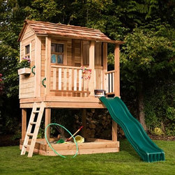 6 x 6 Little Squirt Playhouse - Additional FeaturesBeautiful 1/2 Dutch doorScrews and nails for assembly includedSandbox stays well shaded underneath the playhouseLadder is included with the sandbox optionYour children will enjoy hours of play lost in their imaginations in the 6 x 6 Little Squirt Playhouse. Crafted from safe and durable Western Red Cedar this playhouse includes three window openings as well as two flower boxes so your child can add curtains or flowers to make this house truly their own. The Little Squirt Playhouse has an optional sandbox which is built underneath the playhouse adding to the fun for your kids. A ladder is included with the optional sandbox. The playhouse arrives at your home panelized for quick assembly with the needed hardware so your children will be off and away on their own adventure in no time.About Cedar WoodCedar wood is lightweight and resistant to both cracking and moisture rot. The oils of this resilient wood guard against insect attack and decay and their distinctive aroma acts as a mild insect repellant. Cedar is a dependable choice for outdoor furniture either as a finished or unfinished wood. Over time unfinished cedar left outdoors will weather to a silvery gray patina. This natural process does not compromise the strength or integrity of the wood.Another great aspect of cedar is its environmental effect - which is minimal. A renewable resource cedar wood emits low greenhouse gases. So rest assured knowing that your beautiful cedar furniture is a green choice too!About Outdoor Living TodayOutdoor Living Today has a simple goal. That goal is to provide the best wood products to the marketplace at the best value. Established in 1974 Outdoor Living Today has a well-earned reputation for making products that are functional durable attractive and affordable. Products are designed so that the average person with limited building skills can assemble them. Gazebos sheds playhouses and pergolas are all uniquely designed and con