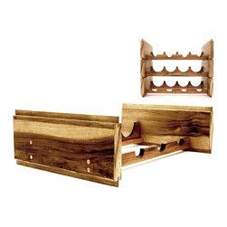 Rustic Hickory Modular Wine Rack - Dariusz Lipski