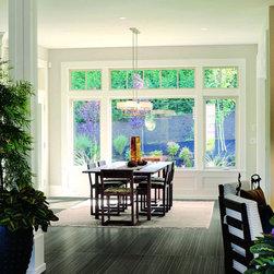 strand - dark tile - porcelain floor tile - dining room floor tile