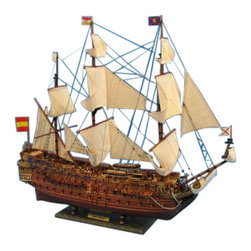 """Handcrafted Model Ships - San Felipe Limited 38"""" - Large Wooden Tall Ship - Sold Fully Assembled Ready for Immediate Display -Not a Model Ship Kit"""