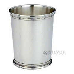 Silver Mint Julep Cup Pen Holder - Store pens and other desk accessories in a classic silver mint julep cup — it's jewelry for your desk!