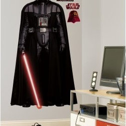 Star Wars Classic Vader Peel and Stick Giant Wall Decal - About Roommates: Roommates, a subsidiary of York Wallcoverings Inc, creates some of the most versatile and unique wall decor you'll find. Their innovative wall decals feature a removable and endlessly reusable design, allowing you to move and rearrange your decals as often as you like, all without causing any damage to your walls or furnishings. This means you can apply them without worry or headache, since you don't have to get the application perfect the first time. RoomMates work on any smooth surface, and are particularly ideal for temporary decorating, such as around the holidays. All RoomMates products are proudly made in the USA, and are made from non-toxic materials so they're as safe for your kids and pets as they are for your walls.Please note this product does not ship to Pennsylvania.