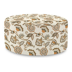 Howard Elliott - Avignon Universal 36 Round Cover - The Universal 36 Round in Avignon is a great addition to any room. A traditional pattern in an updated color story. Velcro fasteners and tailored design make it so you would never know this piece is slipcovered. Cleaning and updating is a breeze, change your look on a whim with new covers!