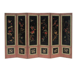 Golden Lotus - Birds & Flowers Four Seasons Hand Embroidery Display Panel - You are looking at a Chinese antique birds and flowers four seasons motif hand embroider display panel.