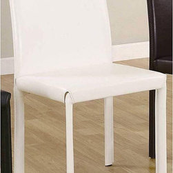 None - Euro Design White Dining Chairs (Set of 4) - Update your dining or living room with sleek dining chairs Furniture is the ideal addition to any modern inspired home Chairs features upholstered legs to complete the design