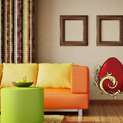 Easter Egg Vinyl Wall Decal EasterEggUScolor002; 72 in. - Vinyl Wall Decals are an awesome way to bring a room to life!