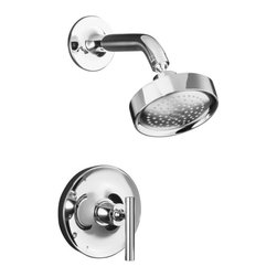 KOHLER - KOHLER K-T14422-4-SN Purist Rite-Temp Pressure-Balancing Shower Faucet Trim with - KOHLER K-T14422-4-SN Purist Rite-Temp Pressure-Balancing Shower Faucet Trim with Lever Handle in Polished NickelPurist faucets and accessories combine simple, architectural forms with sensual design lines and careful detailing. Both sculptural and functional, this Purist Rite-Temp shower trim promises inviting visual appeal and honest interpretation of classic modernity, and features a lever handle.KOHLER K-T14422-4-SN Purist Rite-Temp Pressure-Balancing Shower Faucet Trim with Lever Handle in Polished Nickel, Features:• Premium material construction for durability and reliability